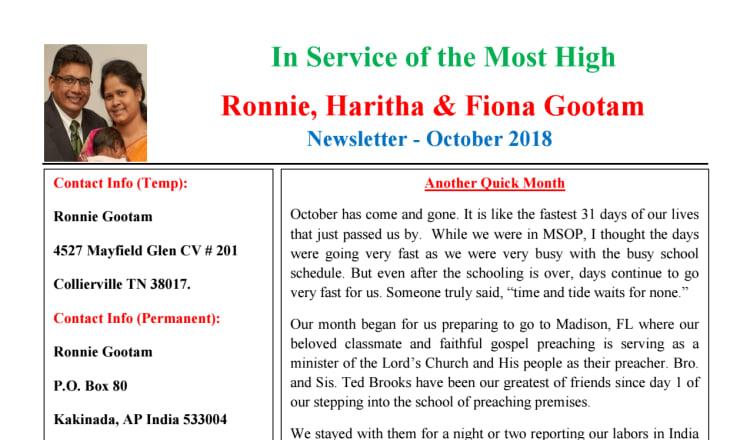 Ronnie Gootam – Beacon Church of Christ