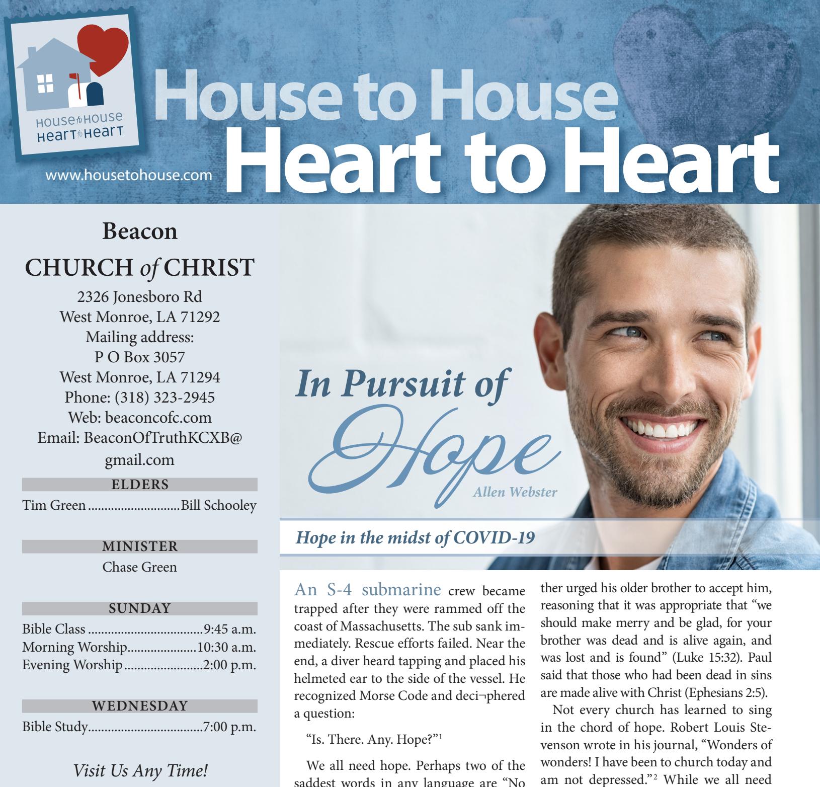 House to House Heart to Heart - Hope